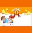 background design template with two kids from