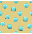 Background with ice square and round stones vector image vector image