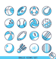 Balls icons set vector image vector image