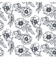 black and white seamless pattern with hand vector image