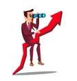 business analyst businessman marketer vector image