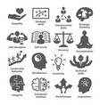 business management icons pack 36 vector image vector image