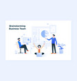 business meeting and brainstorming business vector image vector image