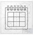 calendar icon Epsclassic blueprint of0 vector image