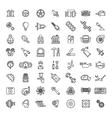 Car parts line icons set vector image vector image