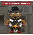 Cartoon character in Wild West - sheriff assistant vector image vector image