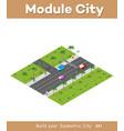 city high-speed highway vector image vector image