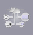 cloud and smart device vector image vector image