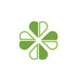 clover leaf clip art graphic design template vector image vector image