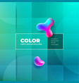 color background design with square cells fluid vector image vector image
