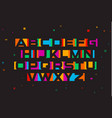 colored font geometric negative space vector image vector image
