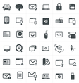 Computer and network Icons Set Design vector image