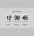 countdown clock flip counter digital timer vector image vector image