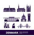 denmark travel destination vector image vector image