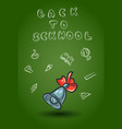 doodle school set isolated on white background vector image vector image