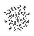 e-commerce digital money icon hand drawn icon set vector image vector image
