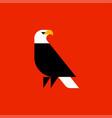 fat style logo template bald eagle vector image vector image