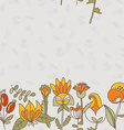 Flower border seamless texture with flowers Use as vector image vector image