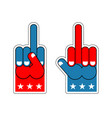 foam finger usa patriotic sign symbol of vector image vector image