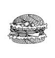 food ornament burger ornament vector image