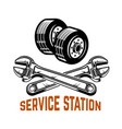 garage service station car repair design element vector image vector image
