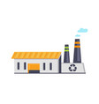 garbage recycling facility vector image