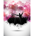 grunge party crowd background vector image vector image