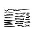 grungy black paint brush strokes collection vector image