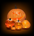 halloween background pumpkins vector image vector image