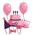 happy birthday cartoon vector image vector image