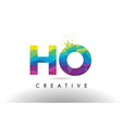 Ho h o colorful letter origami triangles design