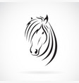 Horse head design on a white background wild