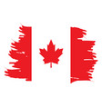 isolated canadian flag vector image vector image
