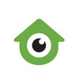 logo home combined with glossy eyes design vector image vector image