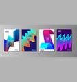 minimal liquid cover designs set future poster vector image vector image