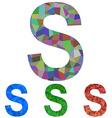 Mosaic font design - letter S vector image vector image