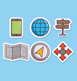 navigation and location design vector image vector image