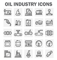 Oil refinery icon vector image vector image