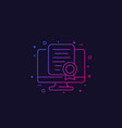 online certification icon linear vector image vector image