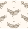 Ornamental seamless ethnic pattern Floral design vector image