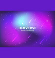 outer space background universe backdrop template vector image