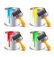 Paint can isolated on white vector image