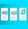 phishing mobile app onboarding screens vector image