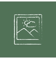 Picture icon drawn in chalk vector image vector image