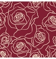 Rose Flowers Seamless Pattern vector image vector image