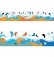 Sea Colorful Waves Design vector image