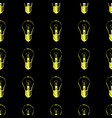 seamless pattern with light bulbs modern hipster vector image vector image