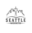 seattle skyline design template vector image