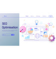 seo optimization technology modern flat design vector image