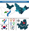 seongbuk district seoul city south korea vector image